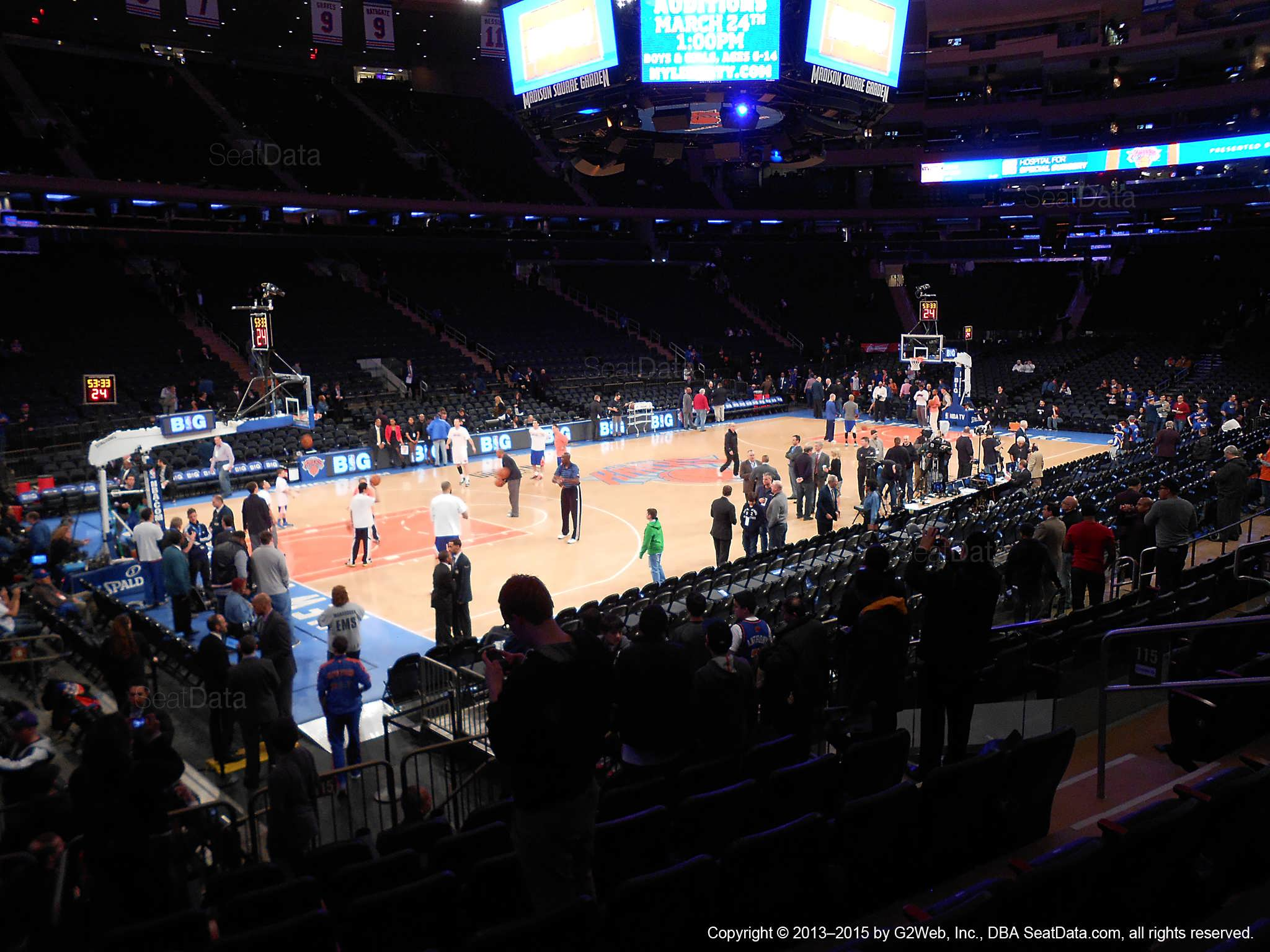 Madison Square Garden Section 115 New York Knicks