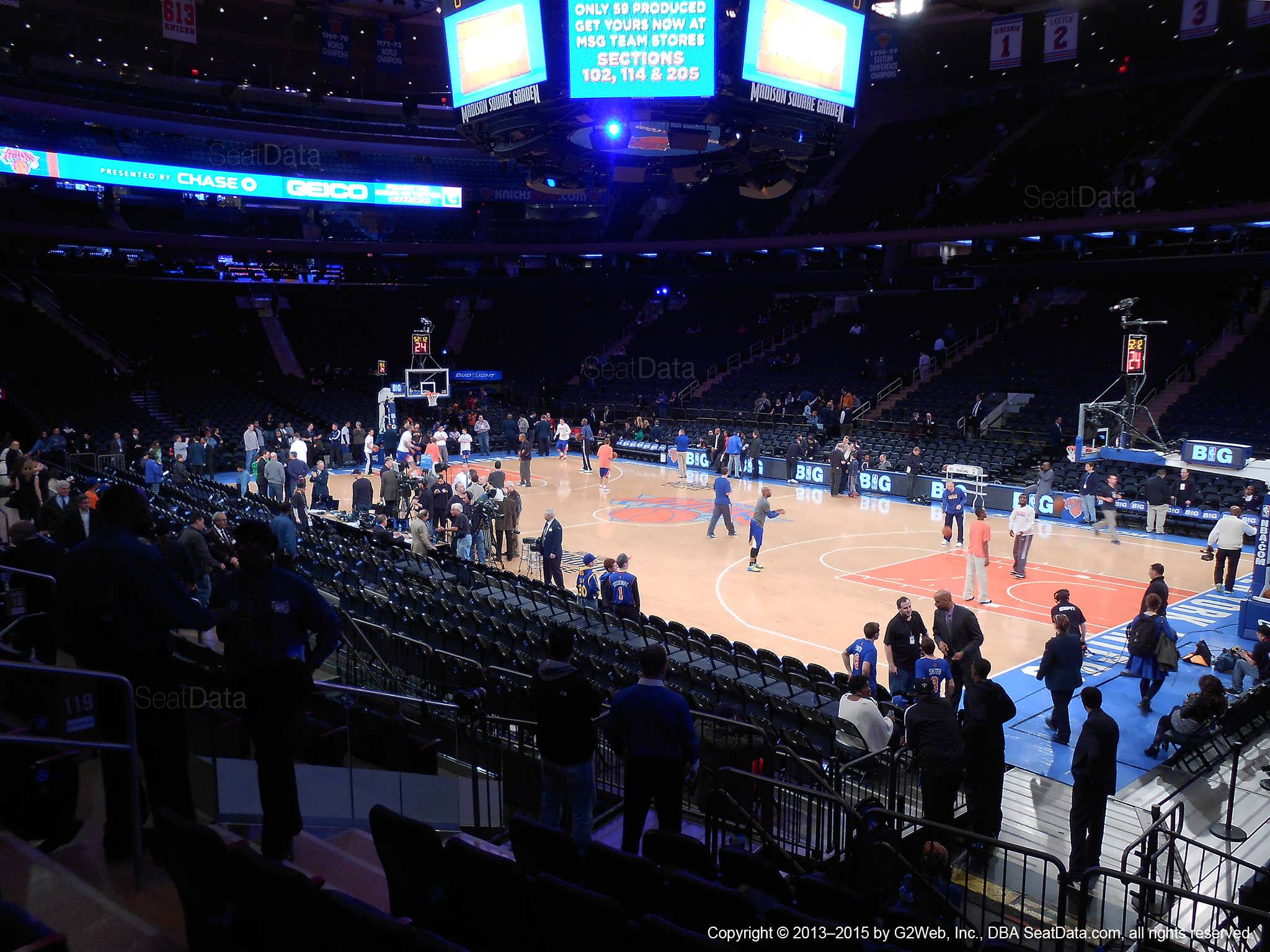 Madison Square Garden Section 119 New York Knicks