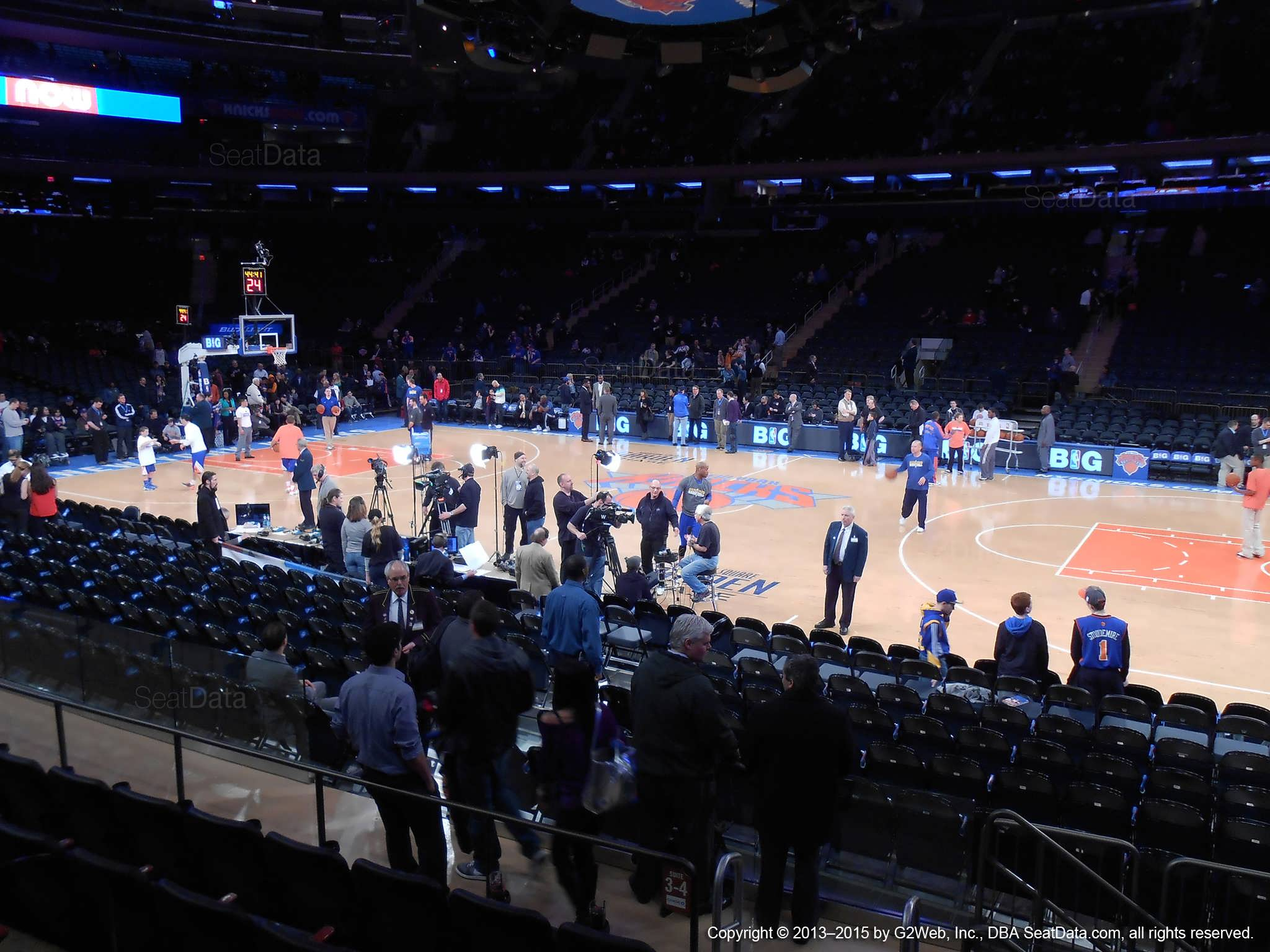 Madison Square Garden Section 12 New York Knicks