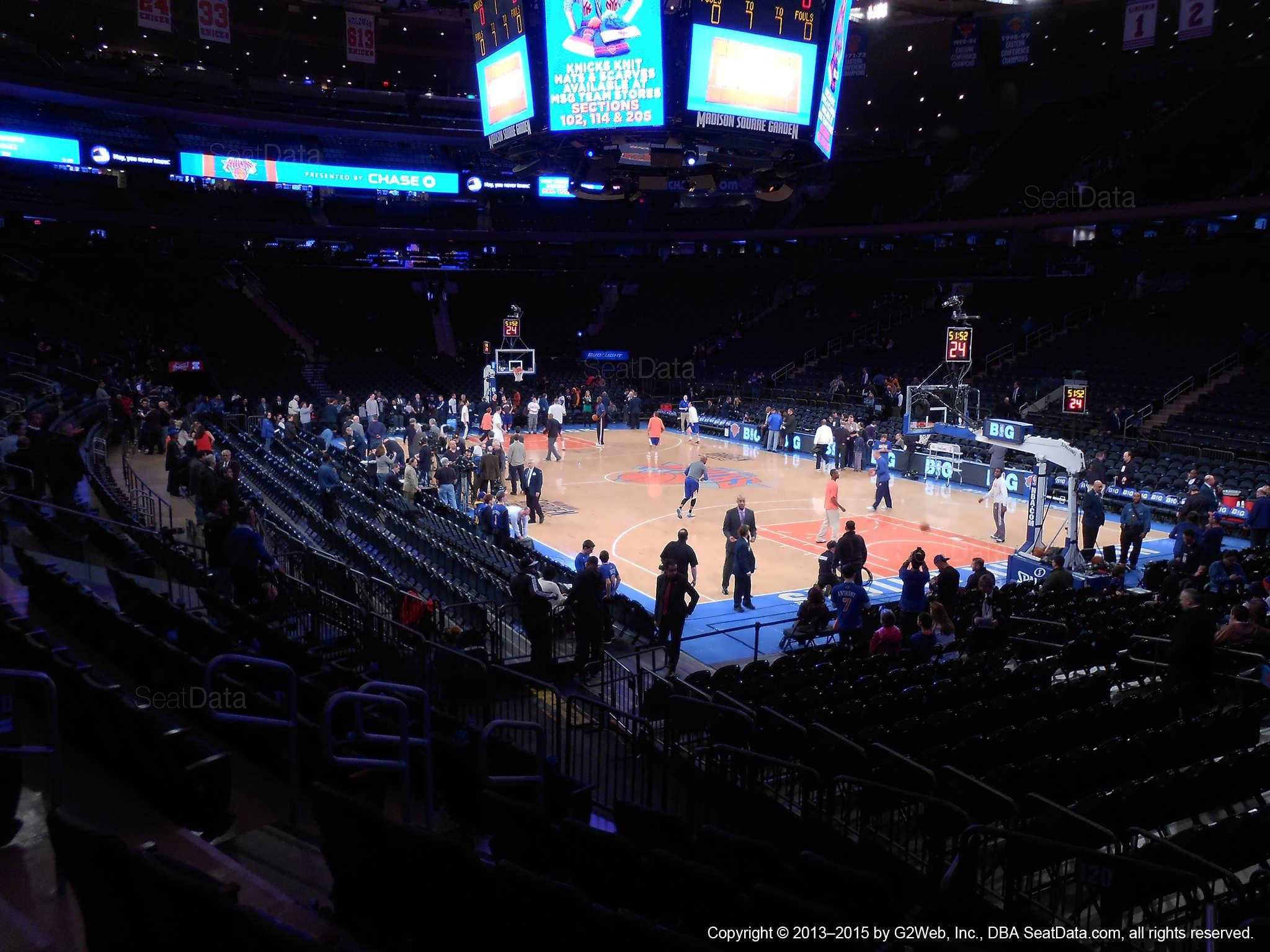 Madison Square Garden Section New York Knicks