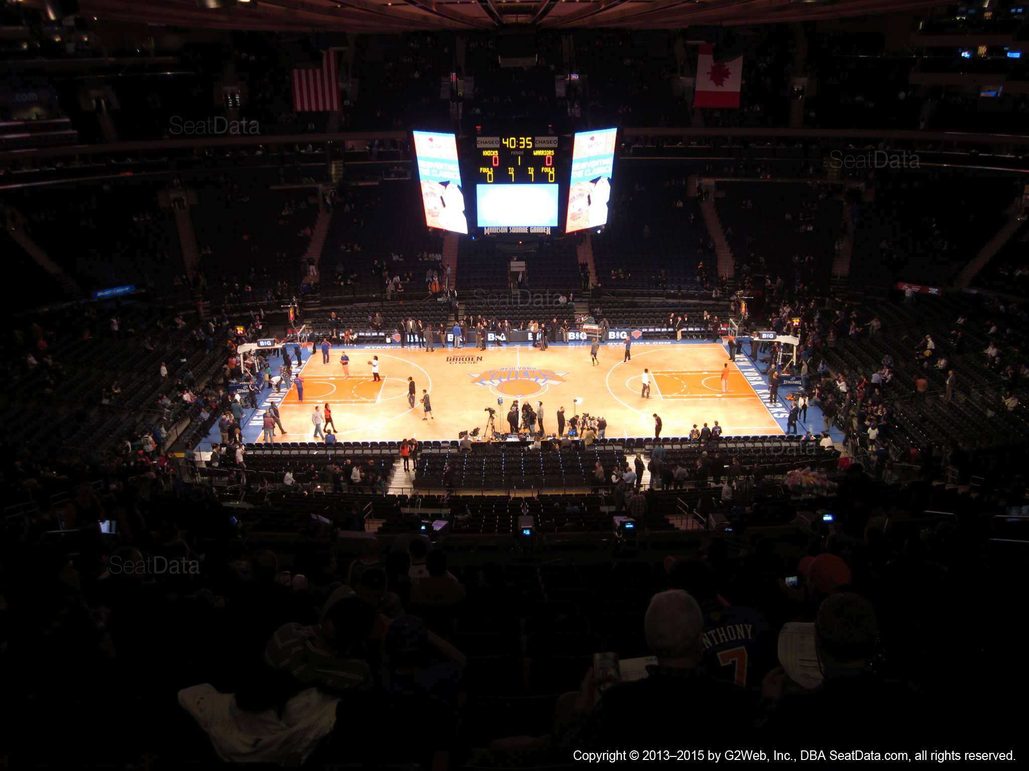 Madison Square Garden Section 224 New York Knicks