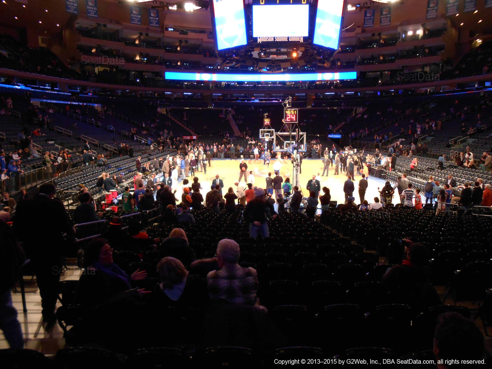 New York Knicks Seat View For Madison Square Garden Section 8
