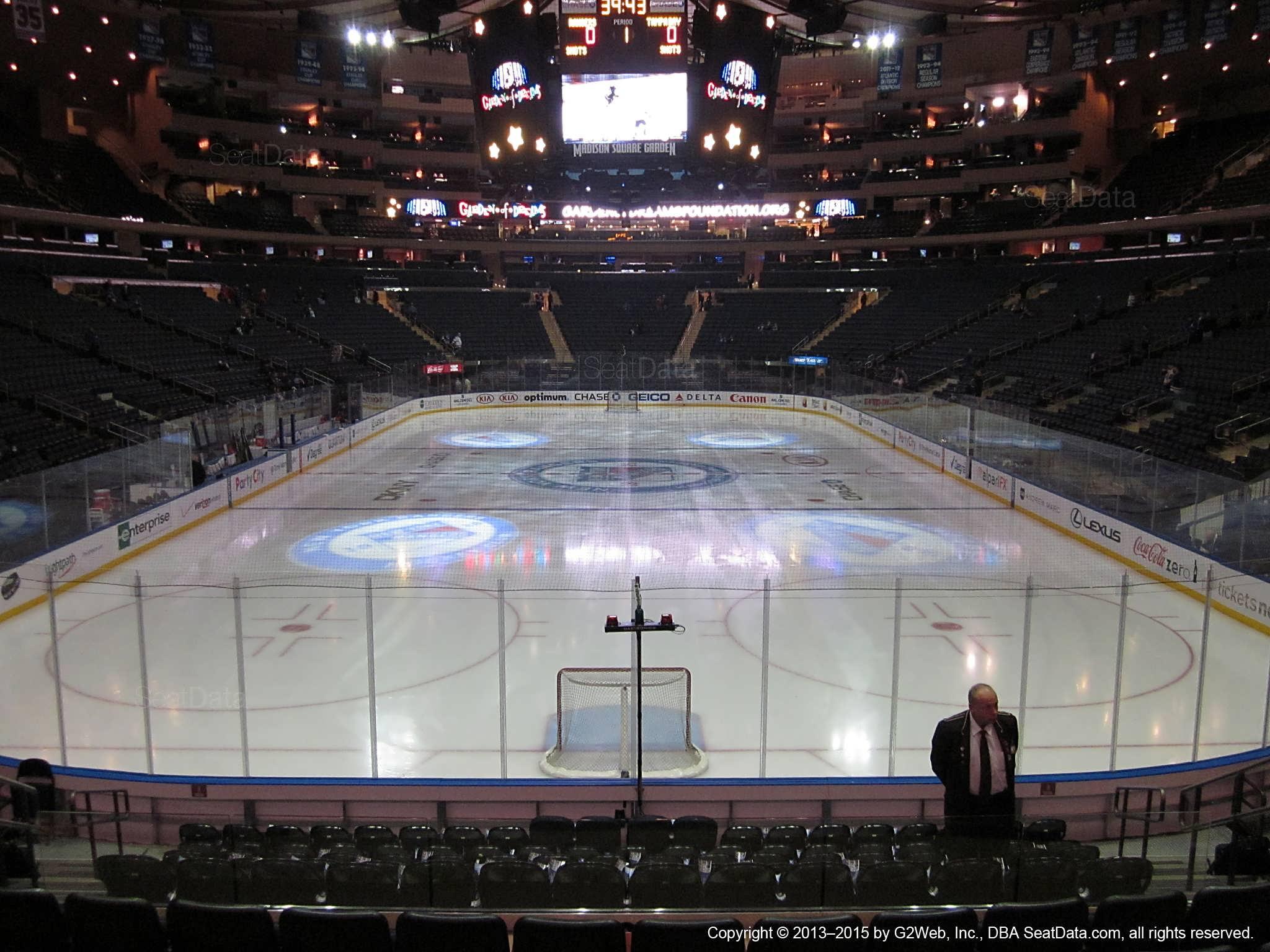 Madison Square Garden Section 112 New York Rangers