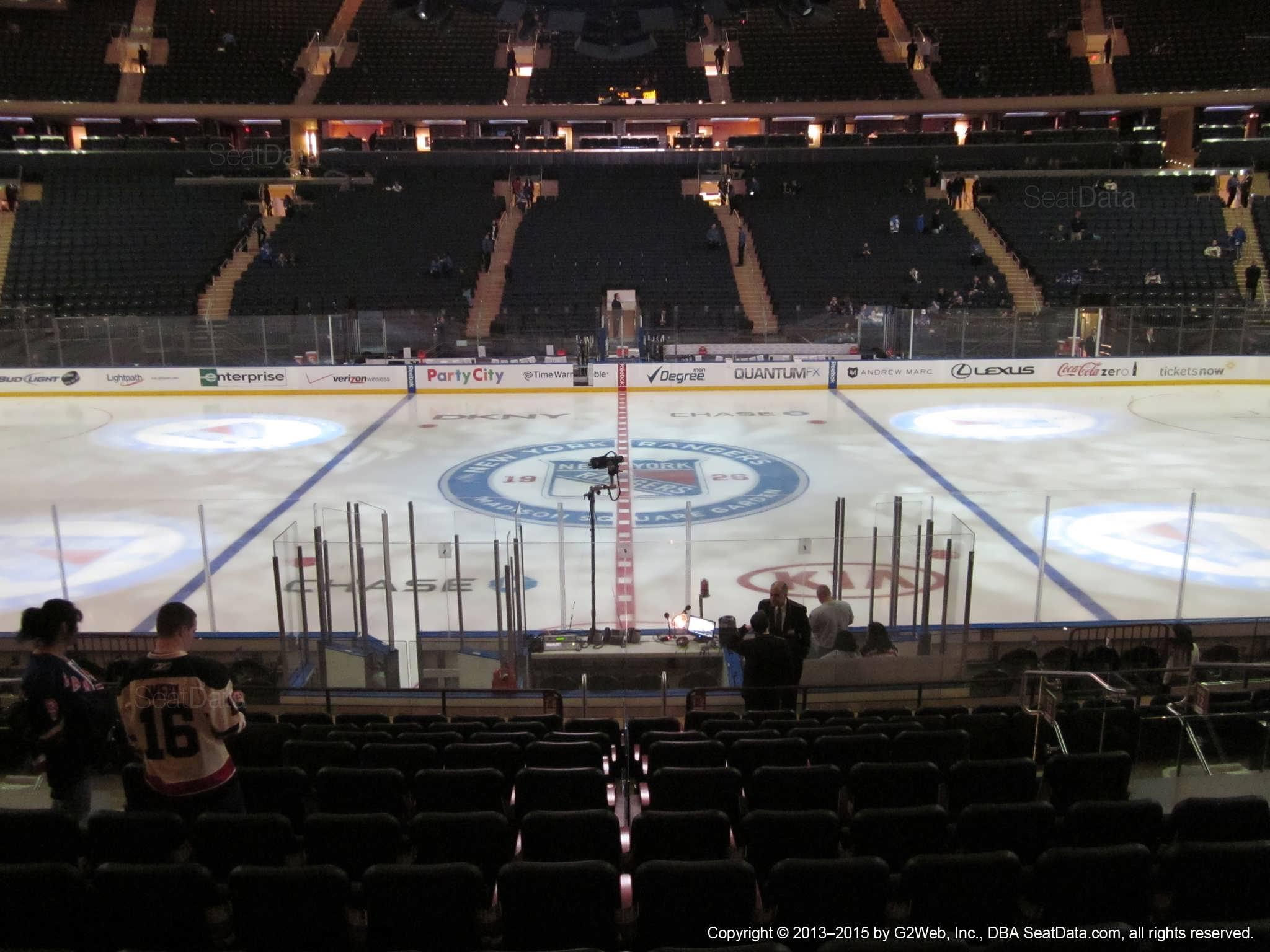 Madison Square Garden Section 117 New York Rangers