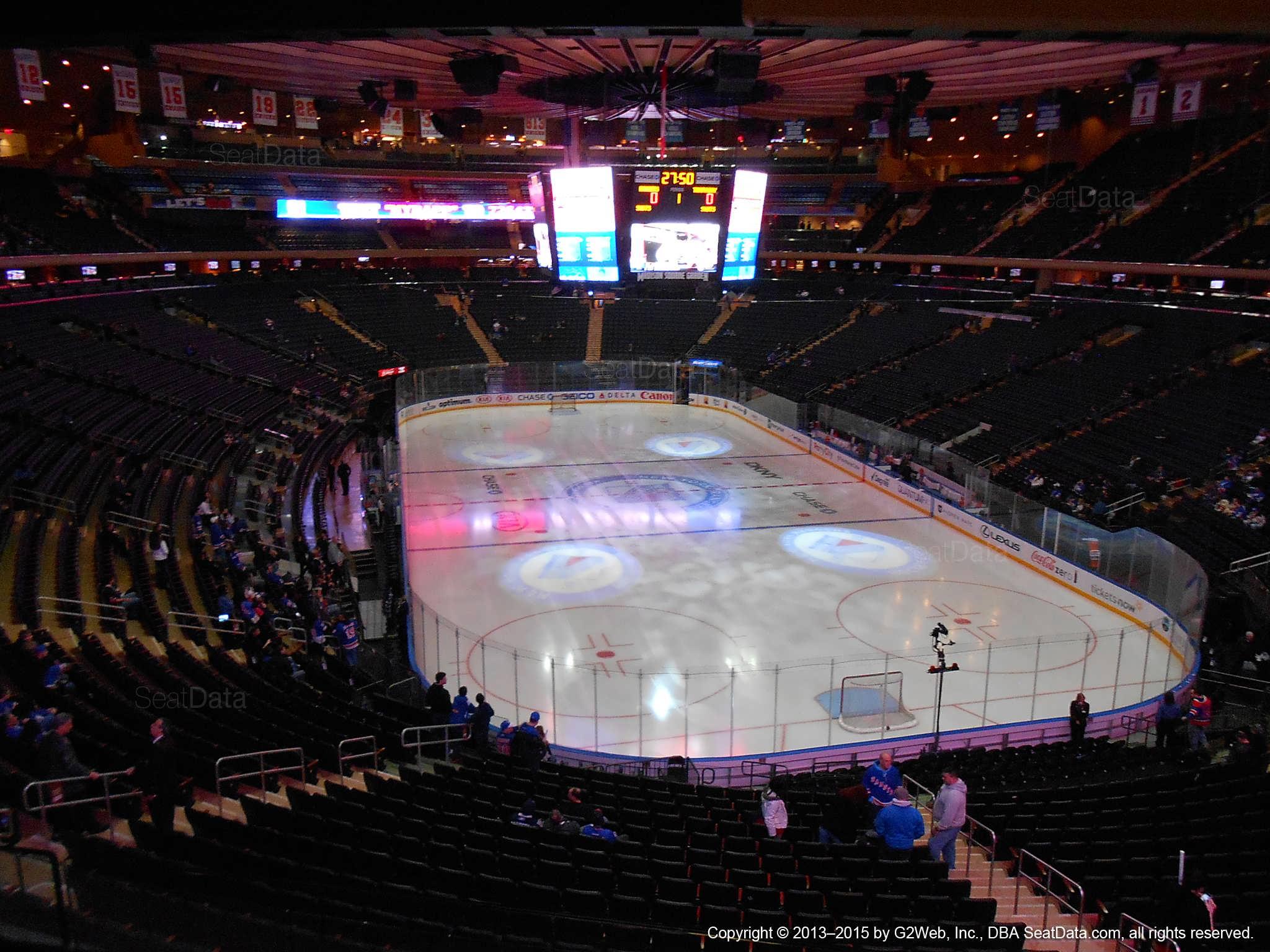 Madison Square Garden Section 203 New York Rangers