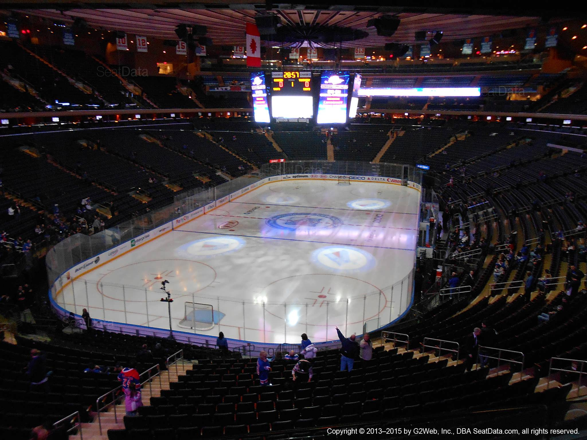 Madison Square Garden Section 205 New York Rangers