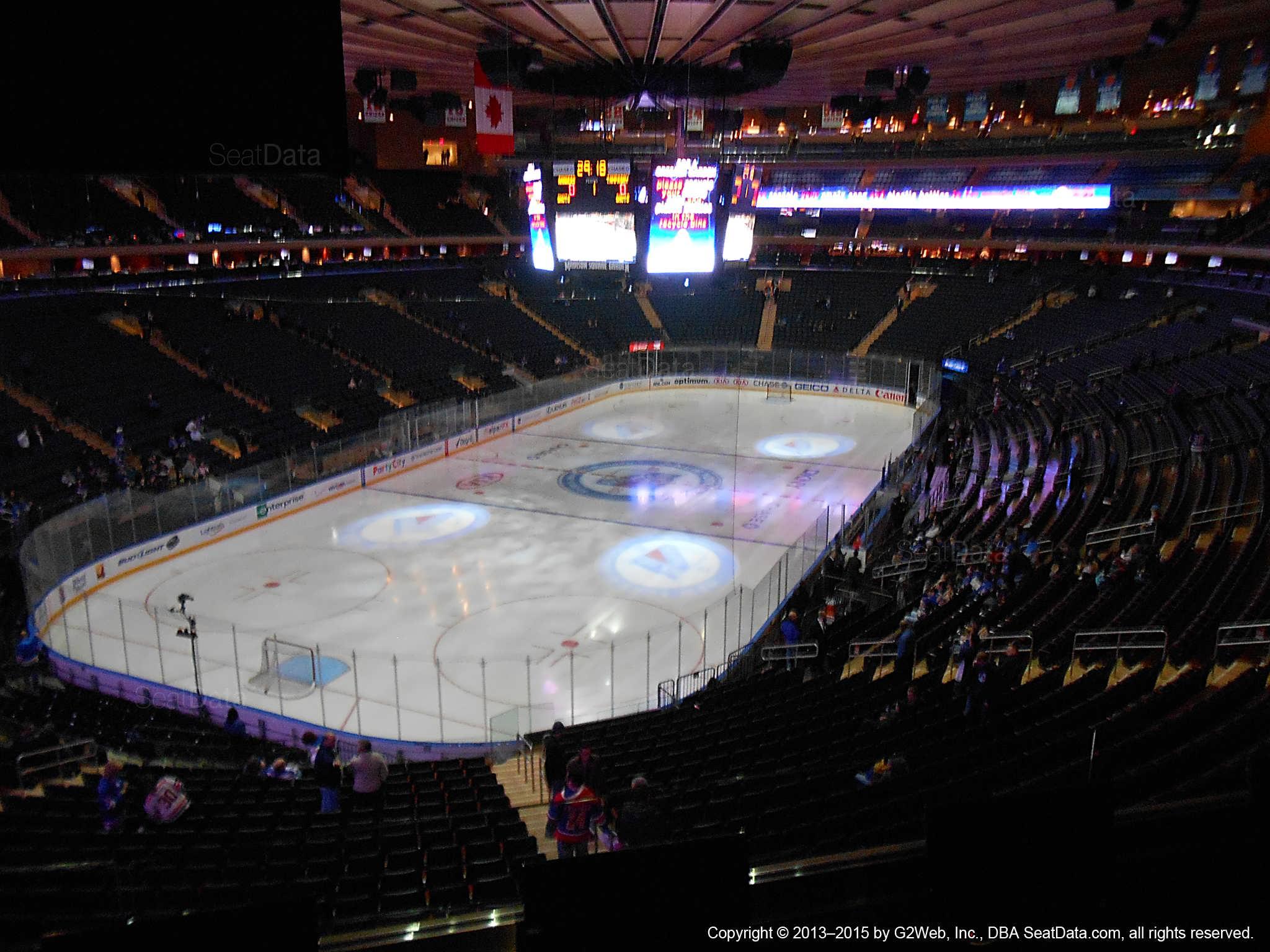 Madison Square Garden Section 206 New York Rangers