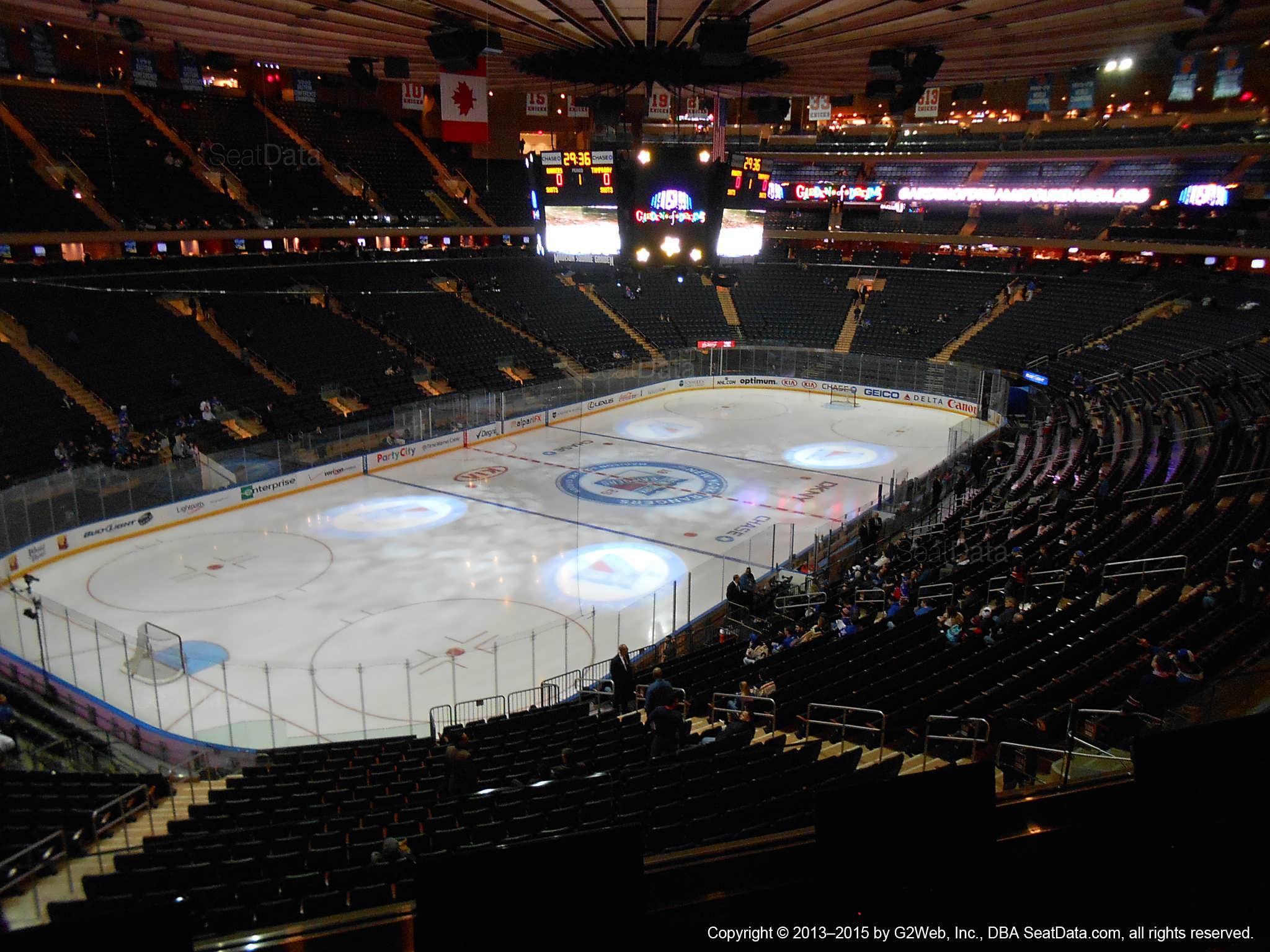 Madison Square Garden Section 207 New York Rangers