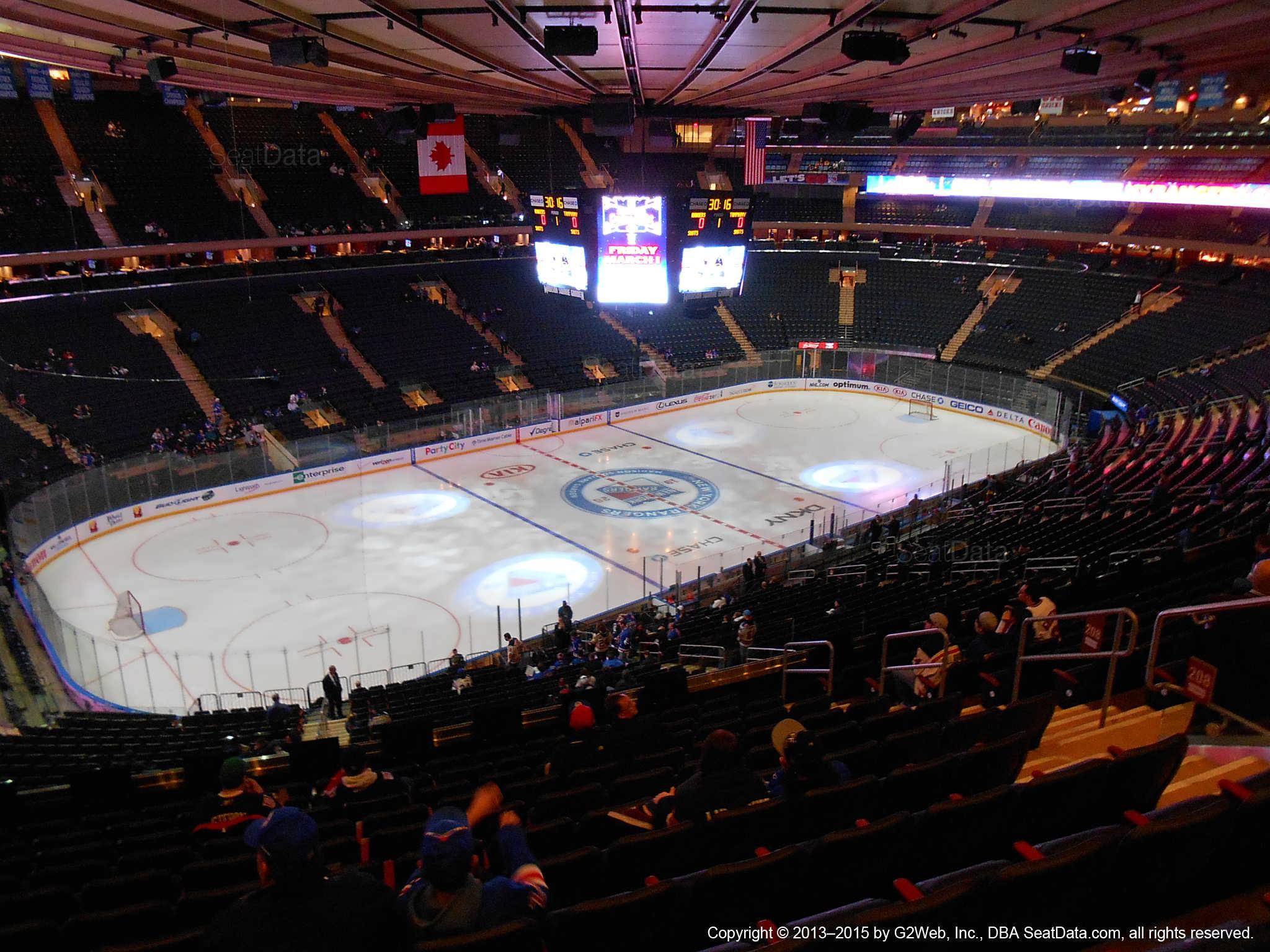 New York Rangers Madison Square Garden Section 208