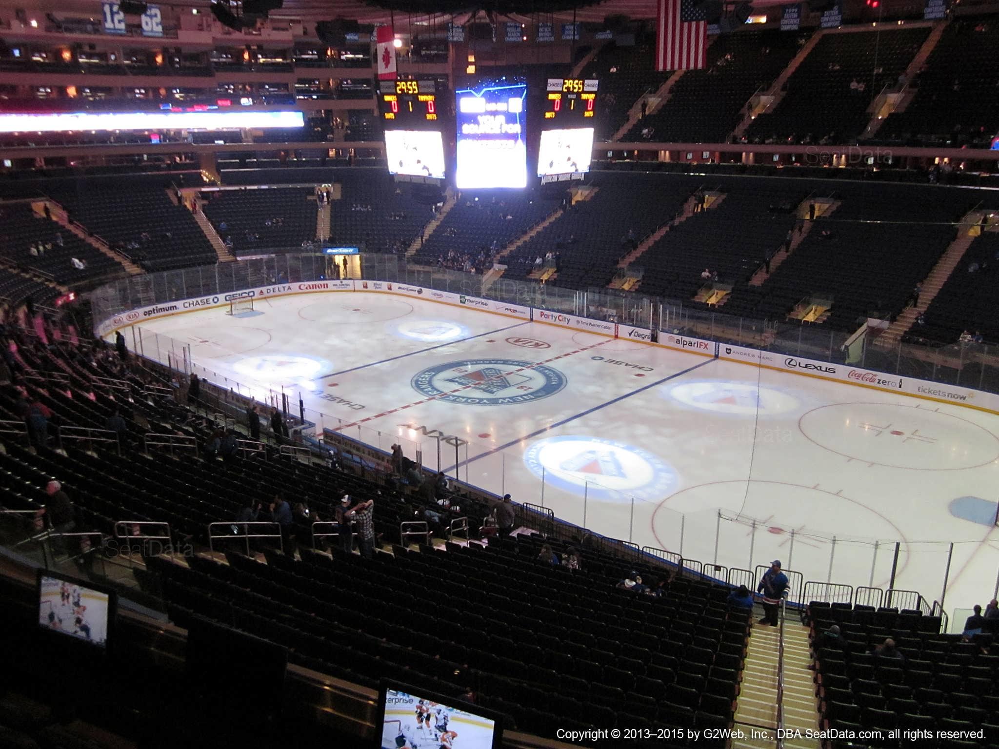 Madison Square Garden Section 214 New York Rangers