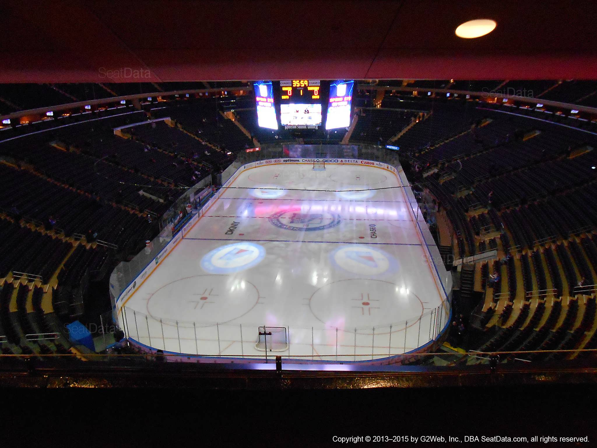 Madison Square Garden Section 417 New York Rangers