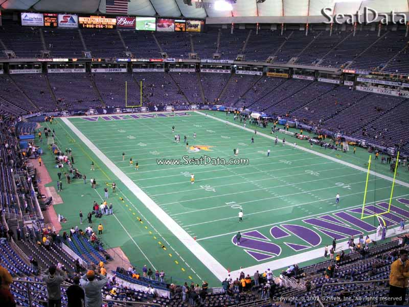 Metrodome Section 223 View