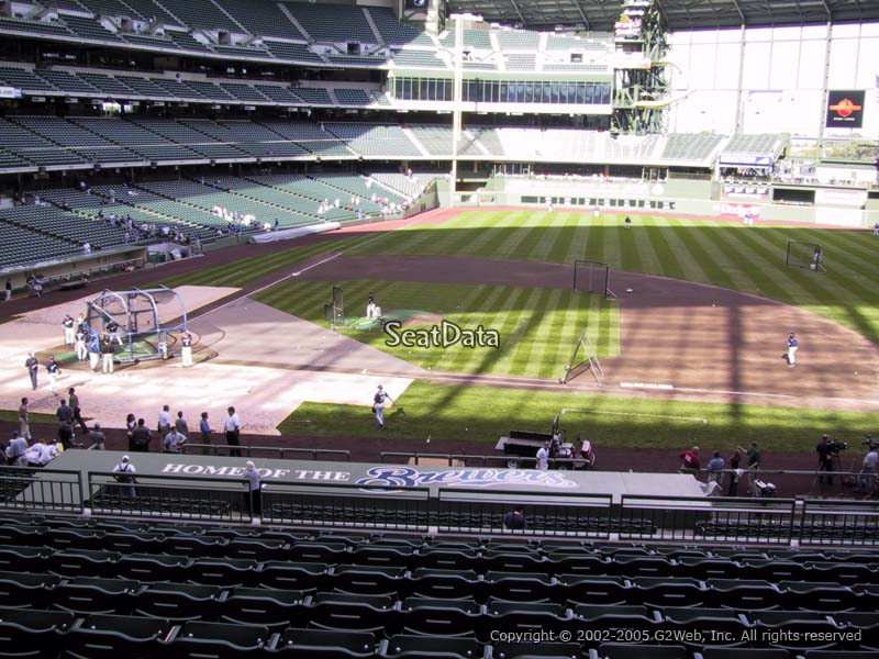 Seat View for Miller Park Section 213