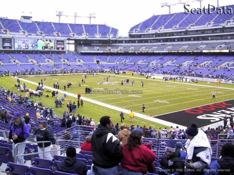 Mt Bank Stadium Section 119 Baltimore Ravens