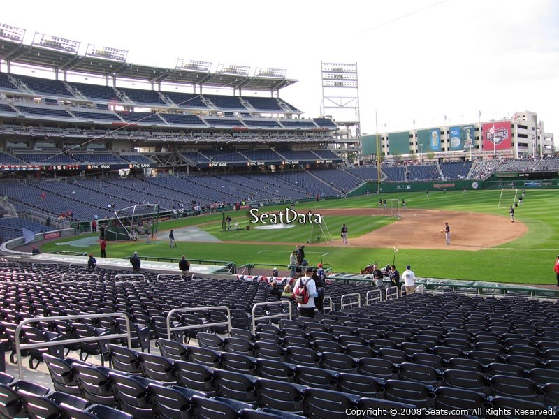How Are The Seats Numbered Within A Row At Nationals Park Rateyourseats Com