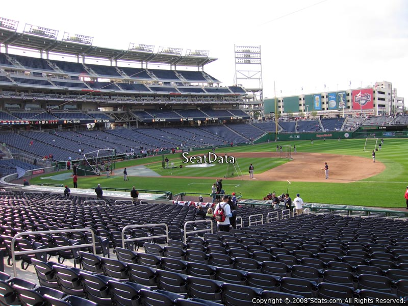 How Are The Seats Numbered Within A Row At Nationals Park