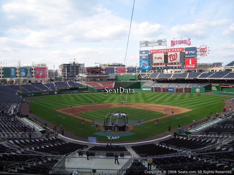 Nationals Park Section 214 Seat View