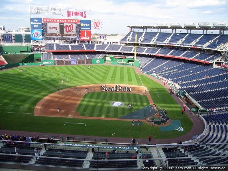 How Many Seats Per Row In Section 309 At Nationals Park