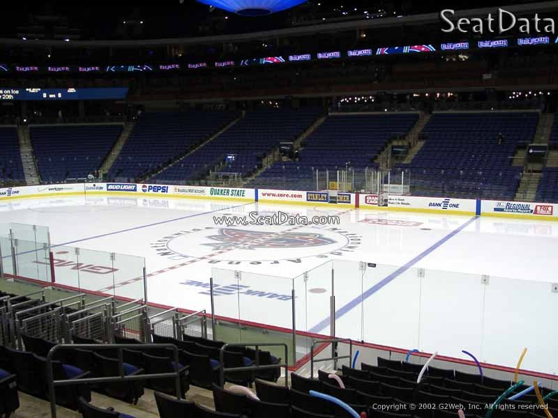 Columbus Blue Jackets Seat View for Nationwide Arena Section 102