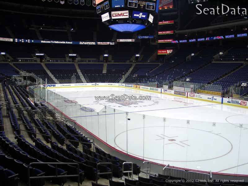 Columbus Blue Jackets Seat View for Nationwide Arena Section 111