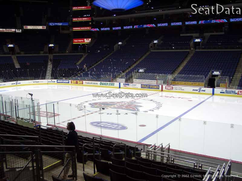 Columbus Blue Jackets Seat View for Nationwide Arena Section 113