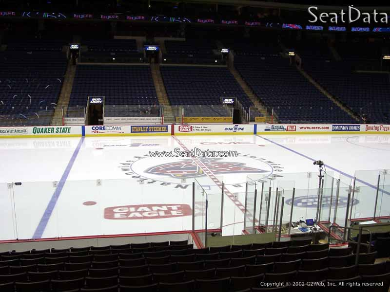 Columbus Blue Jackets Seat View for Nationwide Arena Section 115