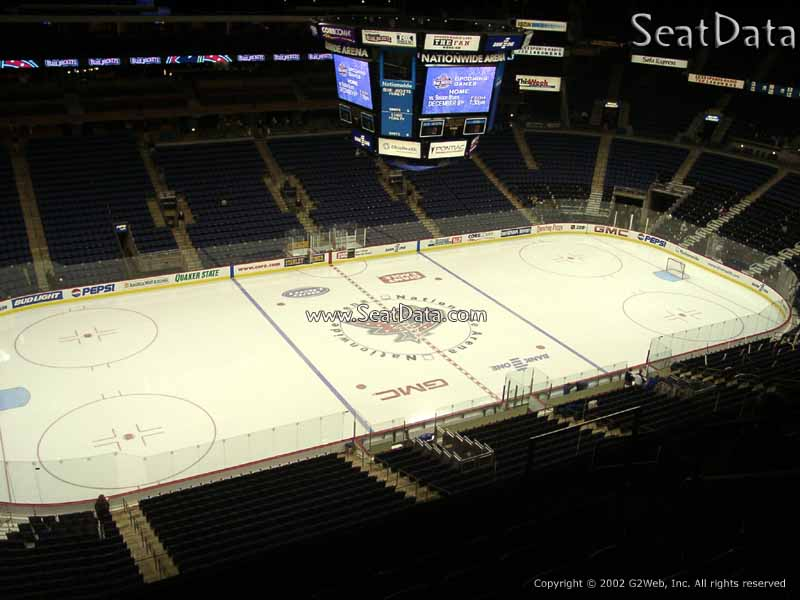 Columbus Blue Jackets Seat View for Nationwide Arena Section 205