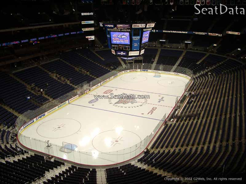 Columbus Blue Jackets Seat View for Nationwide Arena Section 208