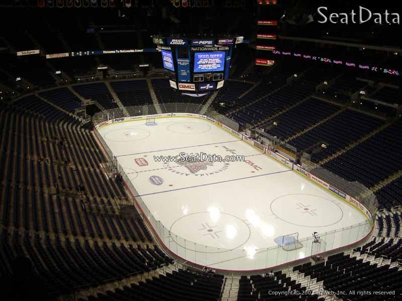 Columbus Blue Jackets Seat View for Nationwide Arena Section 212