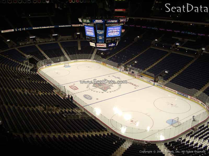 Columbus Blue Jackets Seat View for Nationwide Arena Section 213