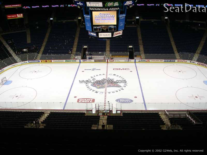 Columbus Blue Jackets Seat View for Nationwide Arena Section 217