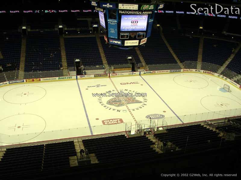 Columbus Blue Jackets Seat View for Nationwide Arena Section 218