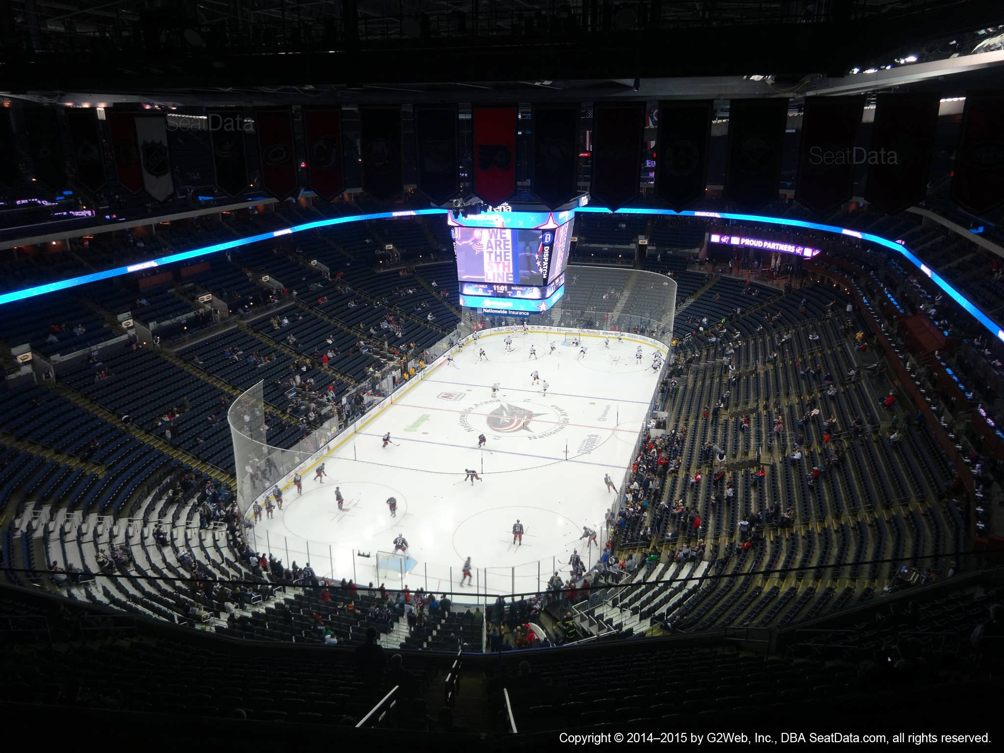 Columbus Blue Jackets Seat View for Nationwide Arena Section 303