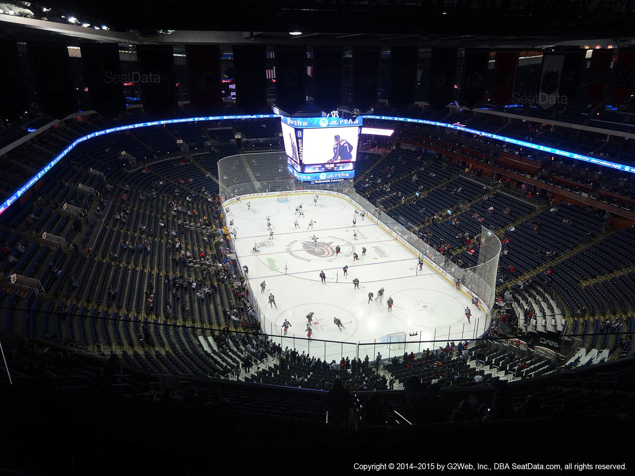 Columbus Blue Jackets Seat View For Nationwide Arena Section 307