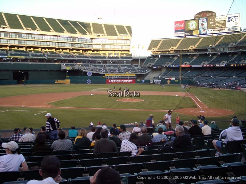 Oakland Coliseum Section 120 Seat View