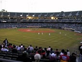 Oakland Athletics Seat View for Oakland Coliseum Section 134