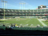Oakland Raiders Seat View for Oakland Coliseum Section 104