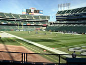 Oakland Raiders Seat View for RingCentral Coliseum Section 110