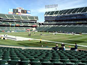 Oakland Raiders Seat View for RingCentral Coliseum Section 112