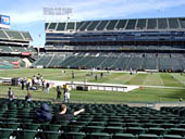 Oakland Raiders Seat View for Oakland Coliseum Section 115