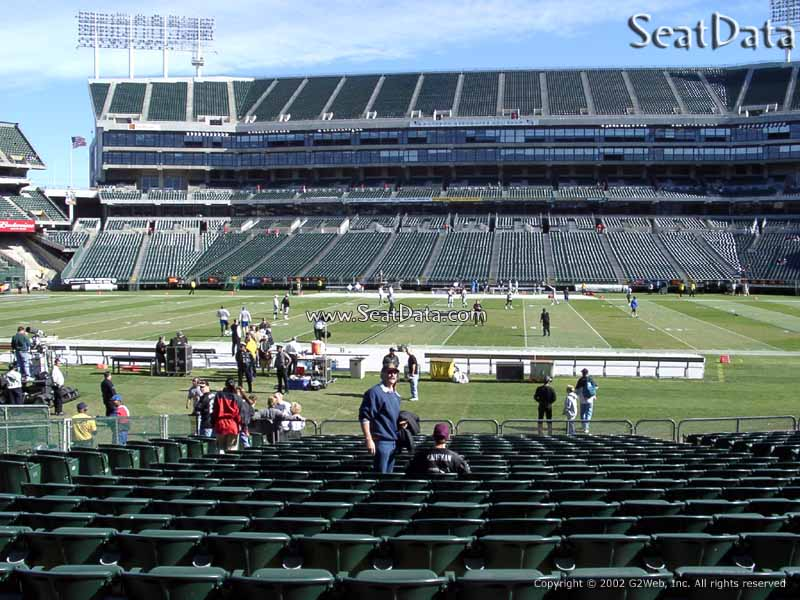 Oakland Raiders Seat View for Oakland Coliseum Section 116