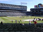 Oakland Raiders Seat View for Oakland Coliseum Section 121
