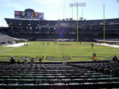 Oakland Raiders Seat View for Oakland Coliseum Section 129