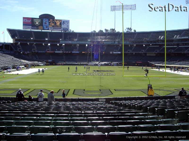 Oakland Coliseum Section 129 - Oakland Raiders ...