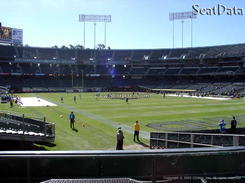 Oakland Raiders Seat View for RingCentral Coliseum Section 132