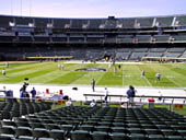 Oakland Raiders Seat View for Oakland Coliseum Section 141