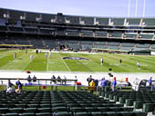 Oakland Raiders Seat View for Oakland Coliseum Section 143