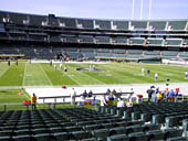 Oakland Raiders Seat View for Oakland Coliseum Section 144