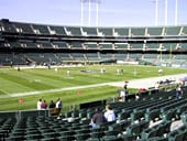 Oakland Raiders Seat View for RingCentral Coliseum Section 148