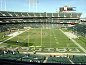 Oakland Raiders Seat View for RingCentral Coliseum Section 205